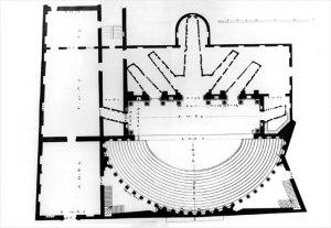 Teatro Olimpico, pianta