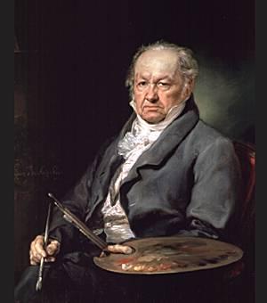 Figura 3, V. Lopes, Ritratto di F. Goya, 1826.